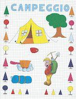 Giochi e colori !: CORNICETTE : LE STAGIONI (Copia il modello e riproduci le cornicette e i disegni legati alle stagioni) Grid, Lego, Childhood, Cross Stitch, Doodles, Kids Rugs, Drawings, Teaching Ideas, Education