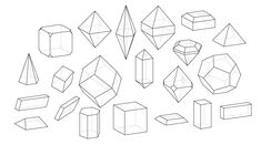 How to Draw All Crystal Shapes Design Psdtuts Figure Drawing, Drawing Reference, Line Drawing, Geometric Formulas, Geometric Shapes, Crystal Illustration, Architect Drawing, Good Tutorials, Drawing Tutorials