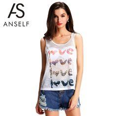 (7.16$)  Buy here  - New Fashion Women Semi-Sheer Tank Top Letter Print O-Neck Sleeveless Casual Shirt Top Vest White