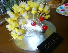 cheese and pineapple hedgehog - Google Search