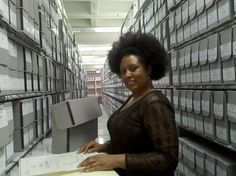 #orgullososdeserarchiveros Tina Ligon, an #Archivist at the National #Archives in College Park, MD (Archives II).