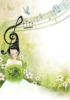 Music Drawings, Cute Drawings, Music Border, Music Wall Art, Music Illustration, Art Folder, Childrens Christmas, Cartoon Background, Decoupage Vintage