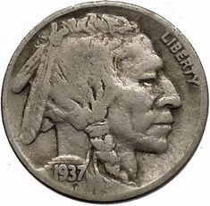 1936 Buffalo Nickel for sale online Rare Coins Worth Money, Valuable Coins, Antique Coins, Old Coins, Coin Worth, Penny Coin, Error Coins, Coin Values, Old Money