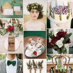 Bordo, kahve ve yeşil tonlarının mükemmel uyumundan oluşan yılbaşı düğün konsepti önerimiz.. #evliliktrendleri