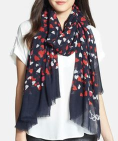 Hearts on a scarf. Love it!
