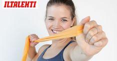 Pitkä jumppakuminauha on oiva väline tehokkaaseen treeniin. Stay Fit, Health, Fitness, Gym, Keep Fit, Health Care, Training, Salud, Excercise