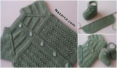 robali-annesinin-cani-bebek-yelek-patik-modelleri Knit Baby Booties, Baby Knitting Patterns, Crochet Stitches, Crochet Baby, Diy And Crafts, Sweaters, Fashion, Crocheting Patterns, Cross Stitch Art