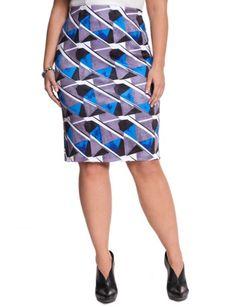 Geo Printed Pencil Skirt from eloquii.com