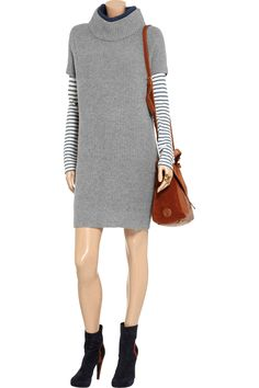 Cacharel Ribbed-knit wool sweater dress - 75% Off Now at THE OUTNET