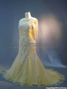 Champagne Plus Size Mother of Bride Dresses with Sleeves IMG_3021:1st-dress.com