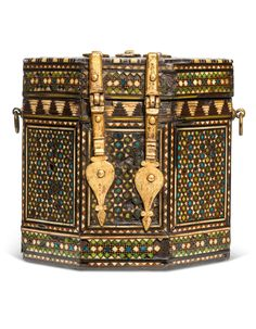 Furniture Box, Tile Panels, 12th Century, Islamic Art, Mosaic Tiles, Metal Working, Bones, Spain, Decorative Boxes