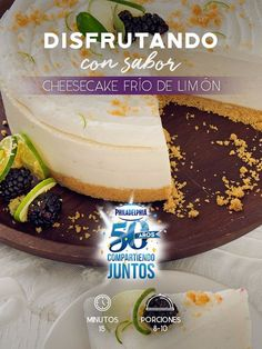 Con el nuevo Queso Philadelphia® Deslactosado ahora no hay pretexto para disfrutar del sabor de este Cheesecake frio de limón. #recetas #receta #quesophiladelphia #philadelphia #crema #quesocrema #queso #comida #cocinar #cocinamexicana #recetasfáciles #deslactosado #cheesecake #limón #postre #postres #dulce #cheesecakes
