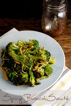 Spicy Broccoli Sauté is such an easy side dish – on the table in under 20 minutes! // @HealthyDelish