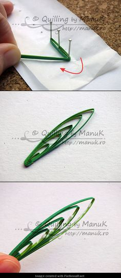 Grass-Part 3 of direction on po - Quilling Paper Crafts Quilling Instructions, Paper Quilling Tutorial, Paper Quilling Patterns, Quilled Paper Art, Paper Beads, Diy Paper, Neli Quilling, Origami And Quilling, Quilling Paper Craft