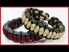 "Paracord Bracelet: ""Crooked Falls Solomon Bar"" Bracelet Design Without Buckle"
