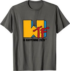 Amazon.com: WTF Happening 2020 funny meme T-Shirt: Clothing Amazon T Shirt, Amazon Merch, T Shirts Uk, Branded T Shirts, Fashion Brands, Funny Memes, Shit Happens, This Or That Questions, Mens Tops