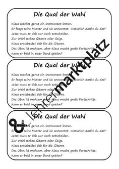 Instrumente - Schleichdiktat / Abschreibtext – Unterrichtsmaterial in den Fächern Deutsch Word Search, Words, Manon, Author, Learning To Write, Spelling, Social Networks, Grammar, Horse