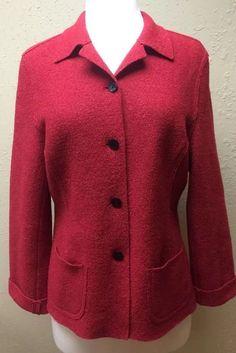 Valerie Stevens Red Woolmark Blend Wool Jacket Coat Size 6 | eBay