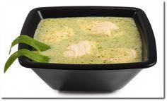 Bärlauch Suppe mit Lachs