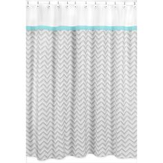 @Overstock.com -  Turquoise/ Grey Zig Zag Shower Curtain - Create an easy bathroom makeover with this Sweet Jojo Designs shower curtain.   http://www.overstock.com/Bedding-Bath/Turquoise-Grey-Zig-Zag-Shower-Curtain/7633839/product.html?CID=214117 CAD              59.55