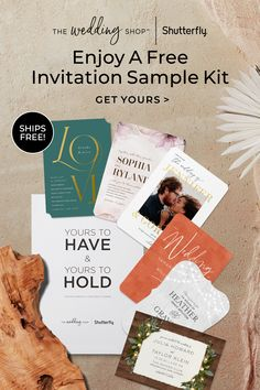 Fall in love with your wedding invitations. Get a complimentary sample kit, complete with invitations in a variety of designs, trims, paper types and more. Plus, we've even included a beautiful inspiration booklet to help you navigate all things wedding from save the dates and party invitations to day-of decor and wedding albums. Free Wedding Invitation Samples, Personalised Wedding Invitations, Elegant Wedding Invitations, Wedding Stationery, Party Invitations, Magical Wedding, Wedding Night, Our Wedding, Wedding Ideas