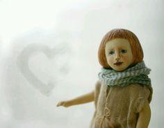 Купить Маленькая деревянная кукла - кукла, маленькая кукла, кукольный дом, карманная кукла