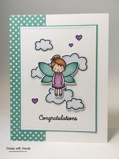 Stamp with Sandy: Little Angel, Pixie Dust Stamp Set, Avery Elle