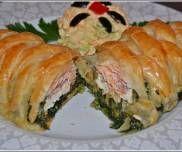 Łosoś ze szpinakiem i serem feta w cieście francuskim Fast Dinners, Sushi, Lunch Box, Food And Drink, Favorite Recipes, Cooking, Ethnic Recipes, Food Heaven, Dinner Ideas