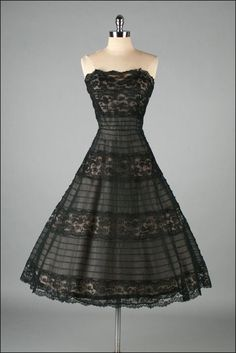 Vintage 1950s Dress  HENRY CONDER - somebody pleaseeee get married in a black tie affair so I have an excuse to find and wear this.