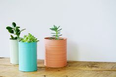 Start recycling and upcycling for home decor if you haven't already. Use these adorable 29 DIY tin can decor ideas. Cheap Diy Home Decor, Easy Diy Room Decor, Diy Home Decor Projects, Decor Crafts, Decor Ideas, Tin Can Crafts, Easy Diy Crafts, Painted Tin Cans, Recycled Tin Cans