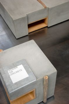 ZATARA: Furniture Made of Concrete and Driftwood Photo