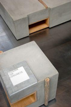 ZATARA: Furniture Made of Concrete and Driftwood