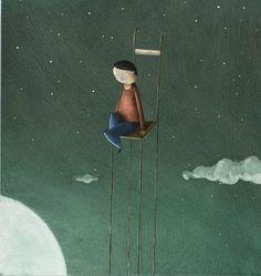 Diego Santini  illustrazione giclèe  edizioni Ferretti  di Arte24h