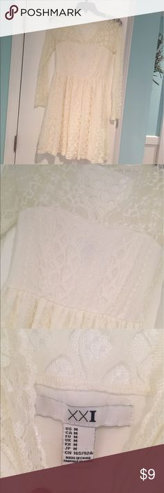 Forever 21 cream lace dress. Lovely, whimsical dress, perfect for any occasion! Forever 21 Dresses