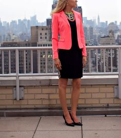 The Classy Cubicle: Electric Elie. The fashion blog for young professional women who need office style inspiration and work wear ideas for the corporate world. The dos and don'ts for appropriately suiting up as a female in corporate America. 20s, 30s, 40s, 50s, attire, outfits, elie tahari, neon, lbd, animal print, j. crew, ralph lauren.
