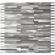 Grey Blends Thin Lines Aluminum Mosaic Tile EMT_AL12-MIX-CB $23