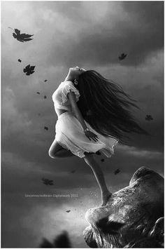 art oscuro Surrender by unconnectedbrain Gothic Fantasy Art, Fantasy Girl, Dark Gothic Art, Photographie Portrait Inspiration, Angel Drawing, Arte Obscura, Beautiful Fantasy Art, Fantasy Photography, Angel Art