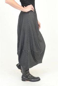 Dimpledot Collective Skirt, Black/White