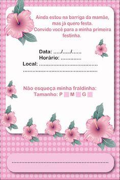 Baby Shower Activities, Alice, Diy, Instagram, Baby Shower Diapers, Diaper Invitations, Invitation Birthday, Invitations, Fortaleza