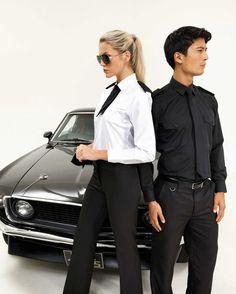 uniformy pro security - košile, kravaty, kalhoty Suits, Fashion, Moda, Fashion Styles, Fasion, Suit, Costumes