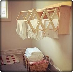 """Search: 10 results found for """"WALL RACK"""" – Saving Shepherd Laundry Hanger, Drying Rack Laundry, Clothes Drying Racks, Folding Laundry, Carpentry Skills, Wall Racks, Store Design, Wood Wall, Space Saving"""