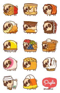 Pugs not drugs Cute Animal Drawings, Kawaii Drawings, Cute Drawings, Cute Puppies, Cute Dogs, Pug Wallpaper, Pug Cartoon, Pug Art, Kawaii Art