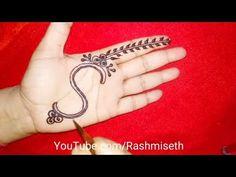 S Letter Henna tattoo mehndi design for hand || S अक्षर मेहंँदी डिज़ाइन | alphabet S tattoo - YouTube