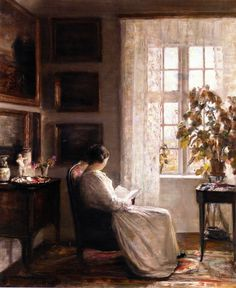 Reading in the Morning Light by Carl Vilhelm Holsoe
