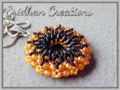 beaded donut pendant