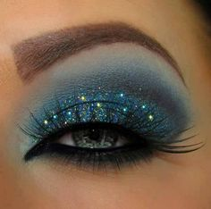 26 The most popular Make up (L'Oreal has a blue eye shadow that is so close to certain colors in this eye look. Its called Midnight Sky)