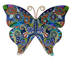 Caterpillars Dream Mosaic butterfly by Susan Walden