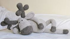 Crochet PATTERN Amigurumi Toy Reindeer by becauseofcrochet