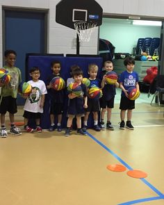 Jr NBA superstars pose after second spring session members of the youngest herd practice hard to earn buckets every Sunday morning straight out the bed!