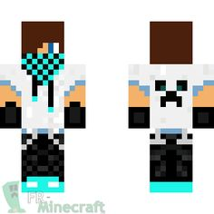 Minecraft Cool Skins for Boys | Aperçu de la skin Minecraft Skater boy (bleu)